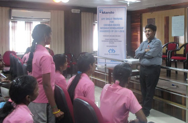 Personality Development Workshops for 'MEDHAVI' scholarship awardees