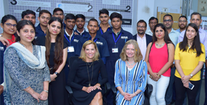 Visit of Laura Kohler to Kohler Plumbing Academy, SNS Foundation, Gurugram